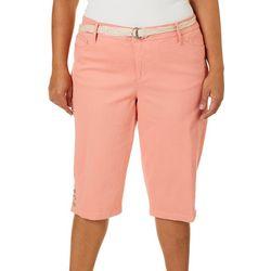 Gloria Vanderbilt Plus Mia Belted Skimmer Shorts