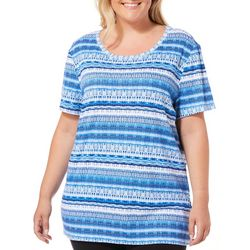 Bay Studio Plus Sydney Smudged Stripe Top