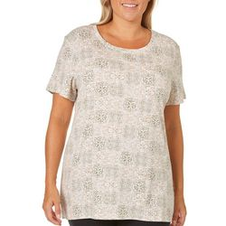 Bay Studio Plus Medallion Tile Printed Top