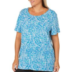 Bay Studio Plus Abstract Printed Top