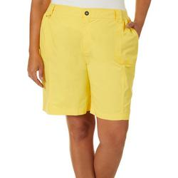 Plus Solid Knit Waist Shorts