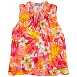 Fresh Plus Tropical Sleevless Top