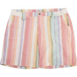 Fresh Plus Colorful Striped Cargo Shorts