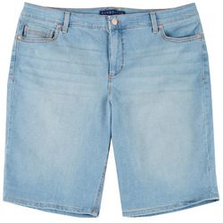 BANDOLINO Plus Riley Denim Bermuda Shorts