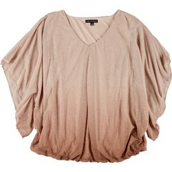 Sara Michelle Plus Ombre Glitter Dolman Sleeve Top