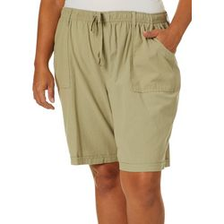 Erika Plus Solid Woven Riley Shorts