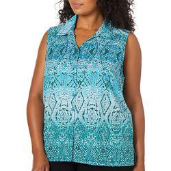 Erika Plus Declan Tribal Ombre Printed Sleeveless Top