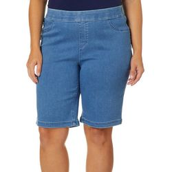 Erika Plus Joey Pull On Denim Twill Bermuda Shorts