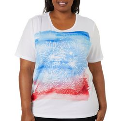 Erika Plus Jaden Embellished Firework Screen Print Top