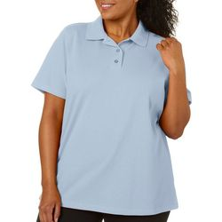 Erika Plus Leslie Solid Short Sleeve Polo