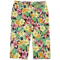 Plus Tropical Cropped Bengaline Trousers
