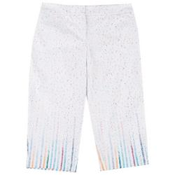 Plus Confetti Cropped Bengaline Trousers