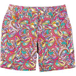 Plus Paisley Bermuda Shorts