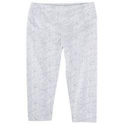 Khakis & Co Plus Animal Print Capri Leggings