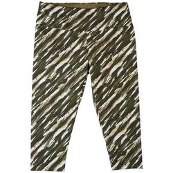 Plus Striped Capri Leggings
