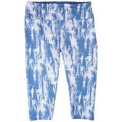 Khakis & Co Plus Tye Dye Capri Leggings