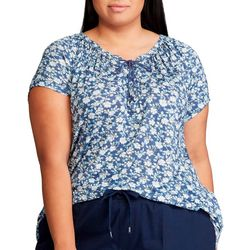 Chaps Plus Floral Crisscross Top