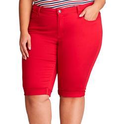 Womens Plus Palmer Twill Bermuda Shorts