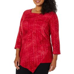 Sami & Jo Plus Embellished Fiesta Ruched Side Tie Top