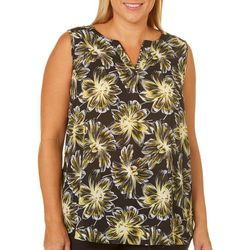 Sami & Jo Plus Daisy Print Sleeveless Top