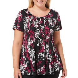 Sami & Jo Plus Fit & Flare Floral Top