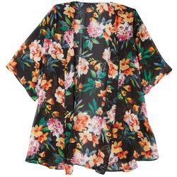 Zoey & Leelo Plus Floral Print Kimono
