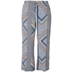 Zac & Rachel Plus Aztec Print Pull On Pants
