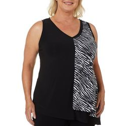 Coco Bianco Plus Solid Print Combo Sleeveless Top
