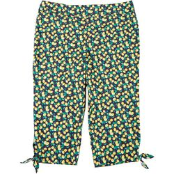 Counterparts Womens Plus Tie Hem Lemon Capris