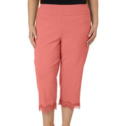 Coral Bay Plus Pull On Scallop Lace Capris