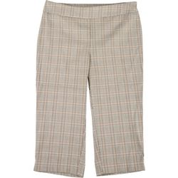 Counterparts Petite Pull On Plaid Print Capris
