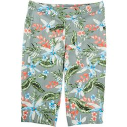 Counterparts Plus Floral Print Super Stretch Capris