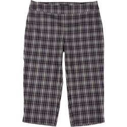 Counterparts Plus Plaid Pull-On Ankle Pants