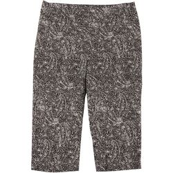 Counterparts Plus Pull On Paisley Print Capris