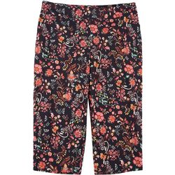 Counterparts Womens Plus Super Stretch Floral Capris