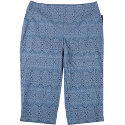 Counterparts Womens Plus Paisley Super Stretch Capris