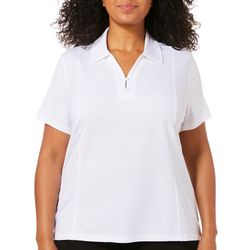 Coral Bay Energy Plus Solid Textured Polo Shirt
