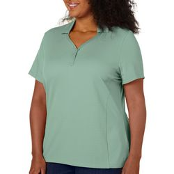 Coral Bay Energy Plus Solid Textured Short Sleeve Shirt