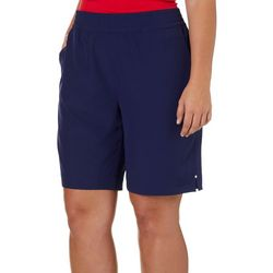 Coral Bay Energy Plus Split Hem Pull On Bermuda Shorts