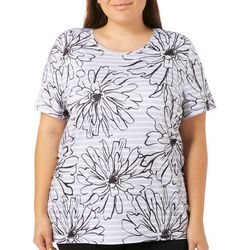 Coral Bay Energy Plus Floral Print Stripe Top