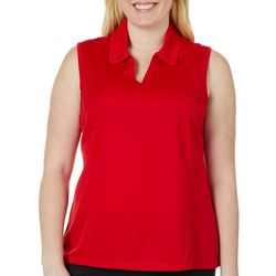 Coral Bay Energy Plus Solid Sleeveless Polo Shirt