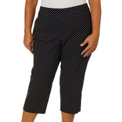 Coral Bay Plus Millennium Polka Dot Pull On Capris