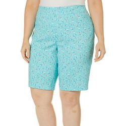 Coral Bay Plus Sailboat Print Millennium Skimmer Shorts