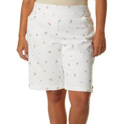 Coral Bay Plus Floral Print Millennium Skimmer Shorts