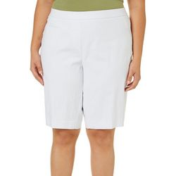 Coral Bay Plus Solid Pull On Slim Shorts