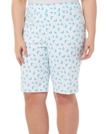 Coral Bay Plus Millennium Butterfly Print Skimmer Shorts