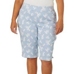 Coral Bay Plus Floral Stripe Skimmer Shorts