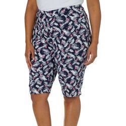 Coral Bay Plus Millennium Tropical Flamingo Bermuda Shorts