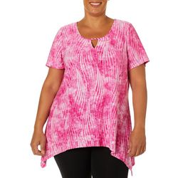 Coral Bay Plus Swirl Breeze Sharkbite Hem Top