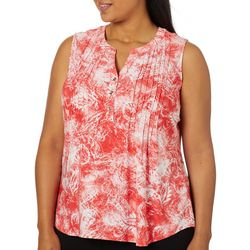 Coral Bay Plus Painted Paisley Sleeveless Top